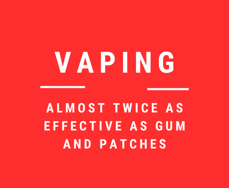 Vaping twice as effective as NRTs